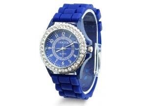 SILICON hodinky TMAVĚ MODRÉ