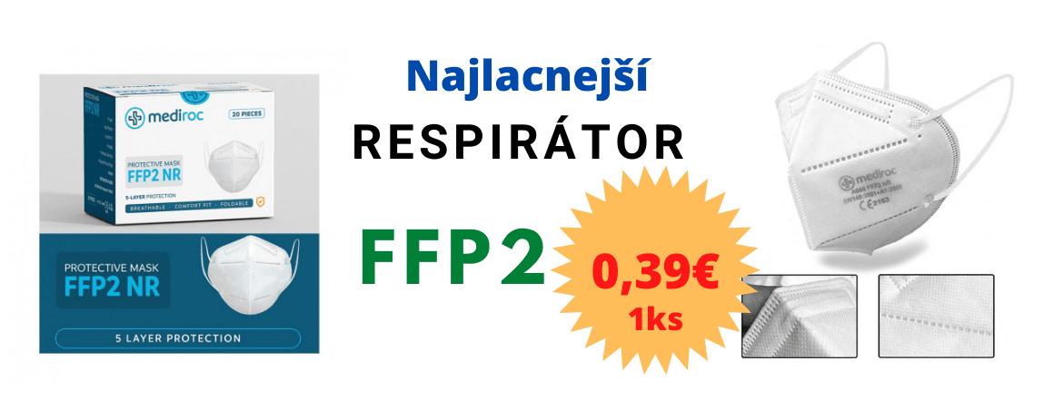 Respirátor Mediroc FFP2 NR