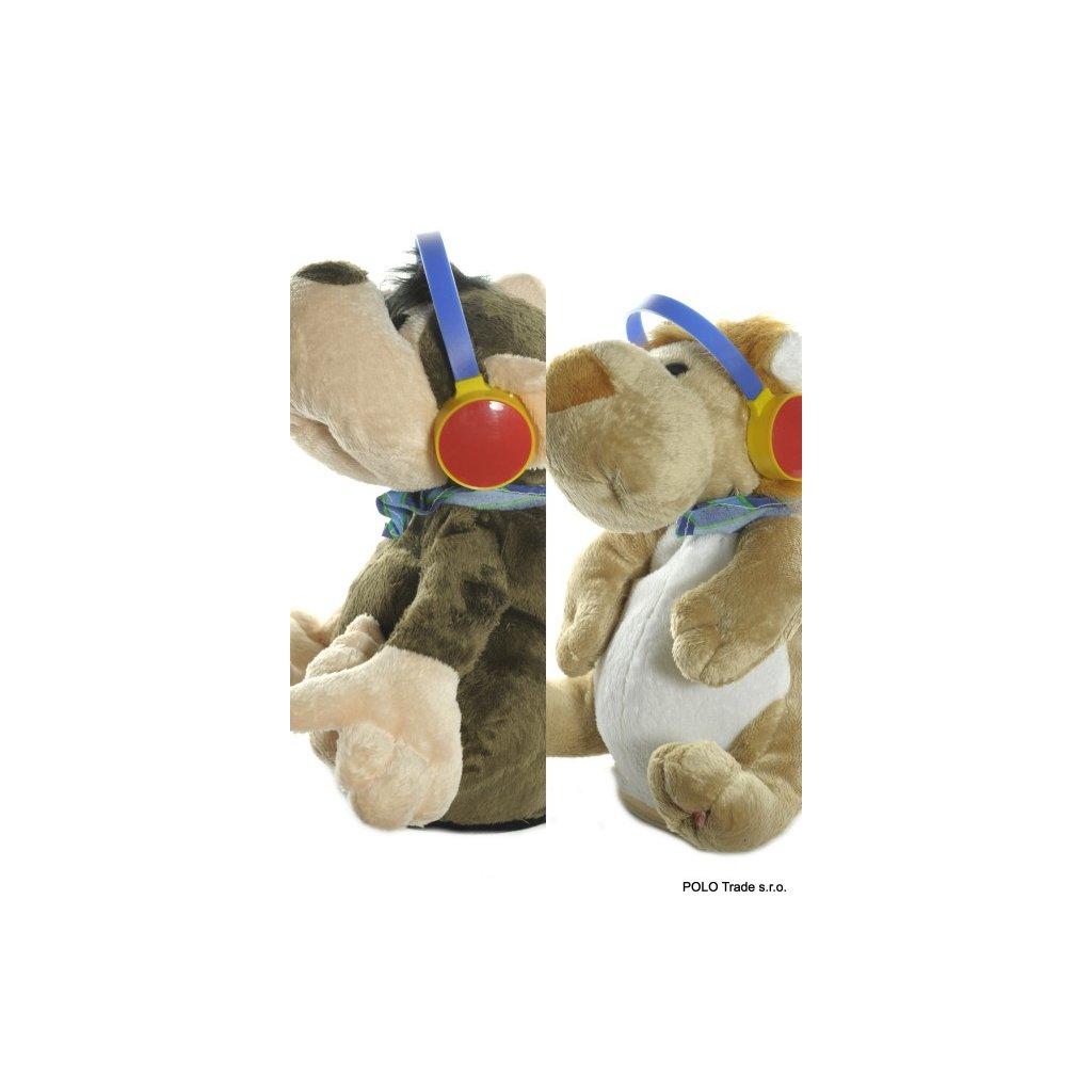 Opica a lev so slúchadlami (Farba Hnedá, Veľkosť Neurčená)