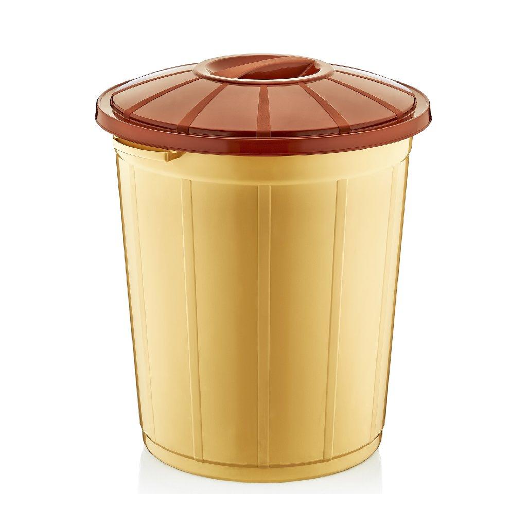 Odpadkový kôš 70L (Farba Svetlohnedá, Veľkosť 70L)