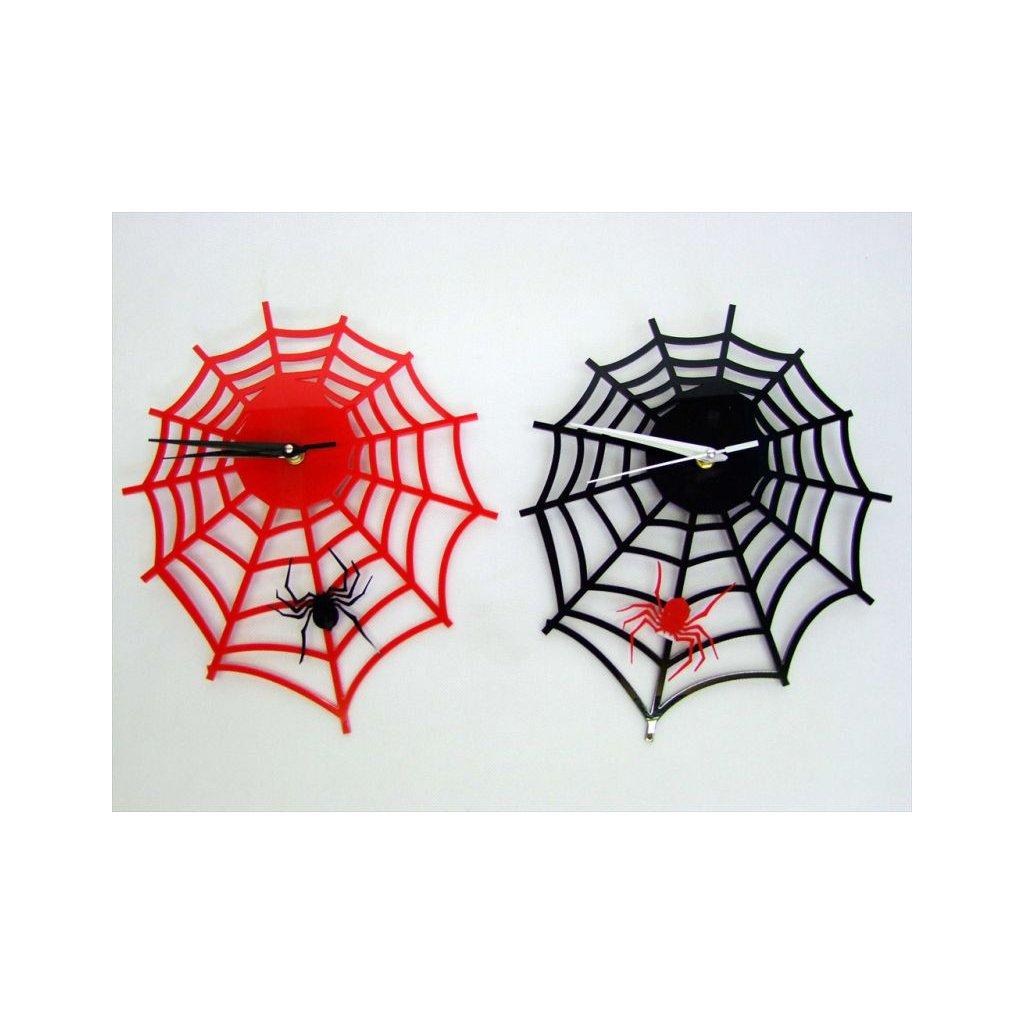 Hodiny - pavúk (Farba Červená, Veľkosť Neurčená)
