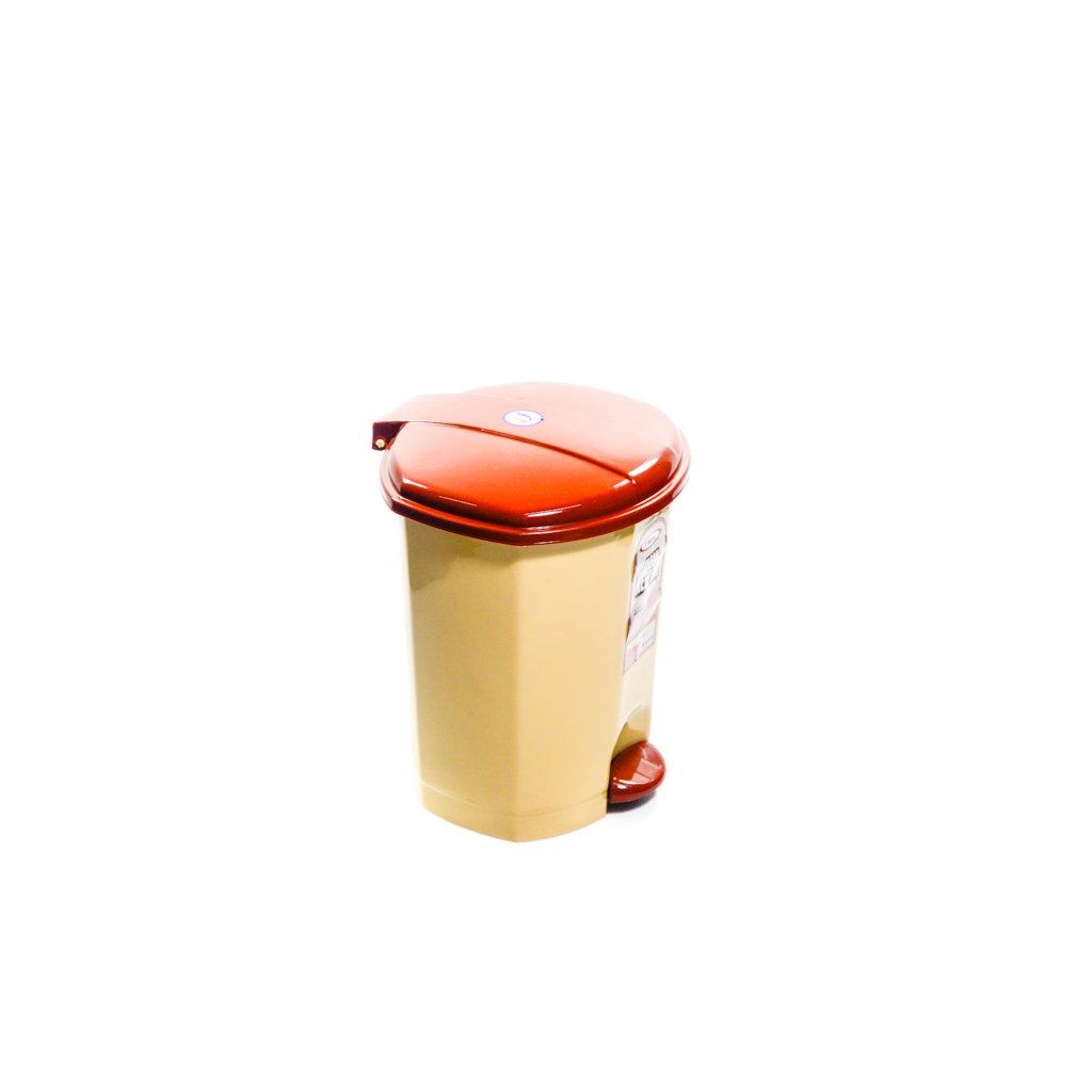 Odpadkový kôš 7L, Dunya (Farba Hnedá, Veľkosť Neurčená)
