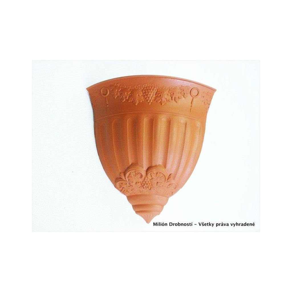 Kvetináč rohový - na stenu (Farba Hnedá, Veľkosť Neurčená)