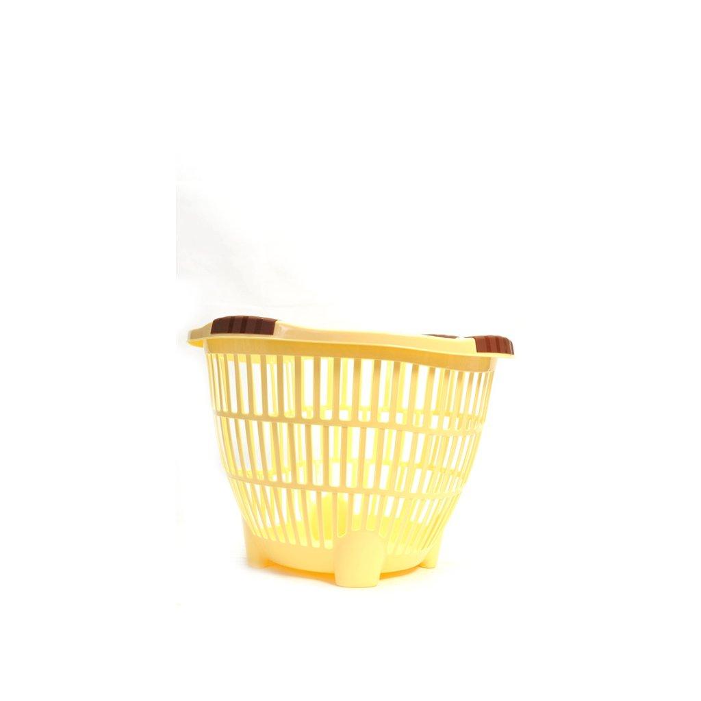 Plastový kôš na prádlo - oválny veľký, C-1-593 (Farba Tyrkysová, Veľkosť Neurčená)