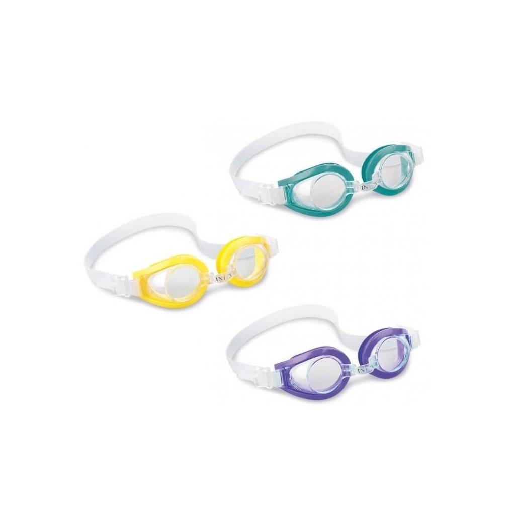 Detské plavecké okuliare Intex Play, UV ochrana (Farba Zelená, Veľkosť Neurčená)