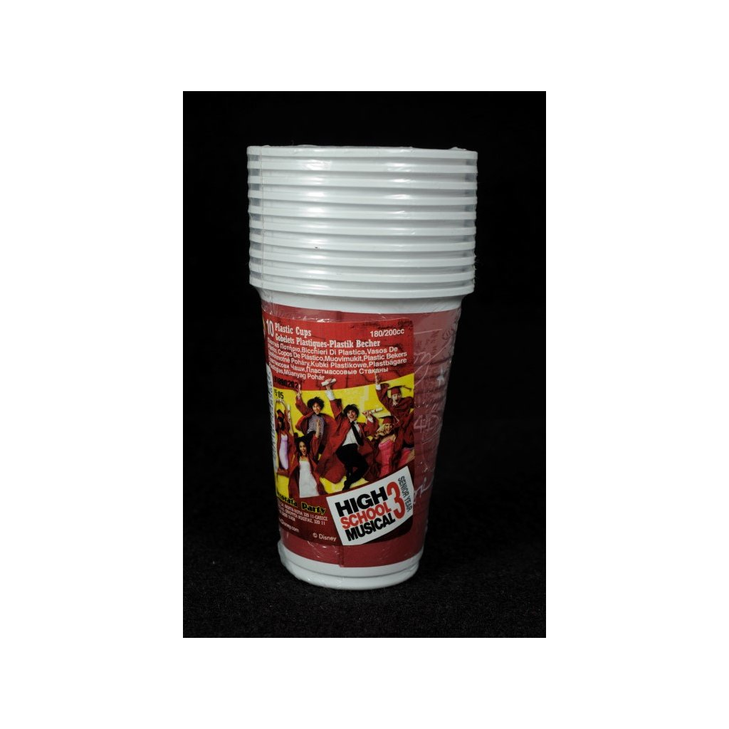 Plastpvé poháre HSM, 10ks, PoloTrade (Farba Červená, Veľkosť Neurčená)