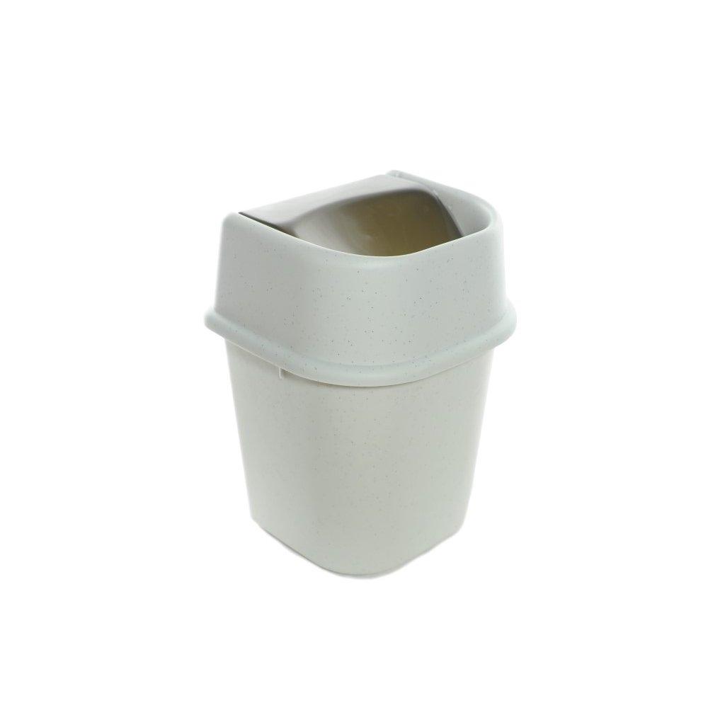Odpadkový kôš 3L, preklápací, matný, MooNStar (Farba Biela, Veľkosť Neurčená)