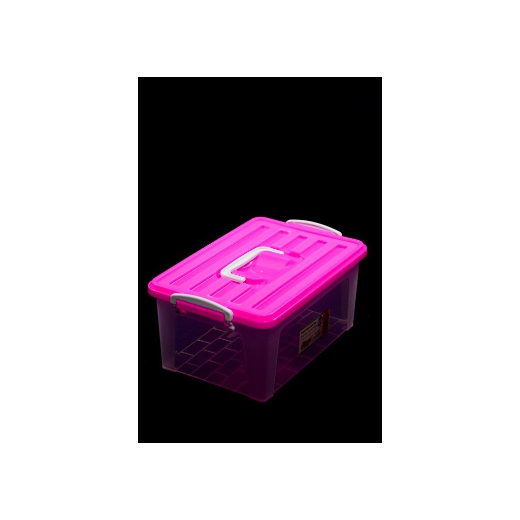 Dóza s poklopom držadlá s funkciou klipu a jedno hore 5,5L, Dunya (Farba Modrá, Veľkosť 5.5L)