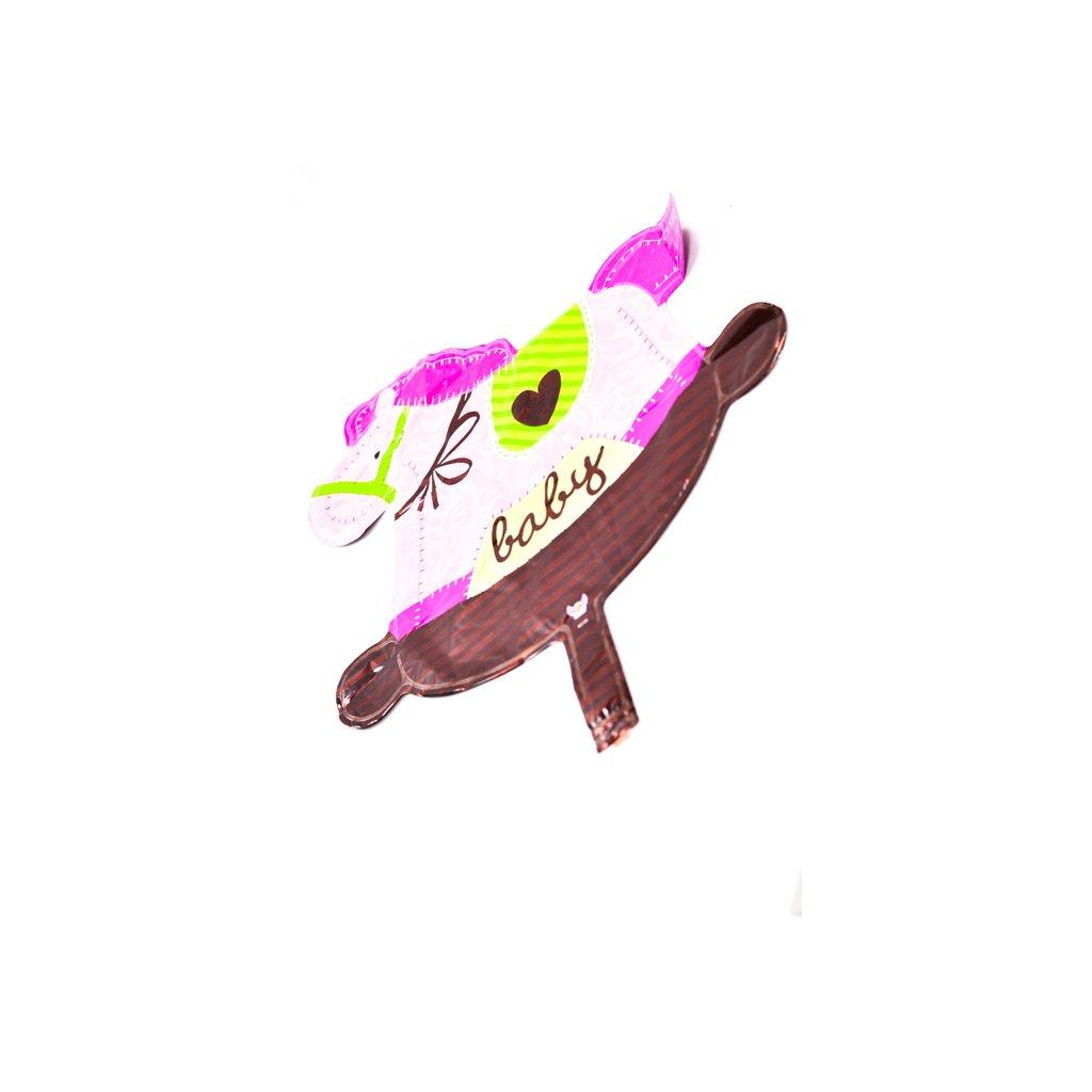 BALON KONIK BABY 40*40. (Farba Ružová, Veľkosť Neurčená)