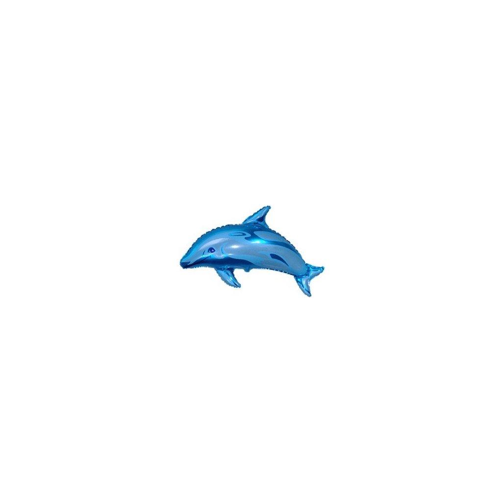 Balón - delfín 42 cm (Farba Modrá, Veľkosť Neurčená)