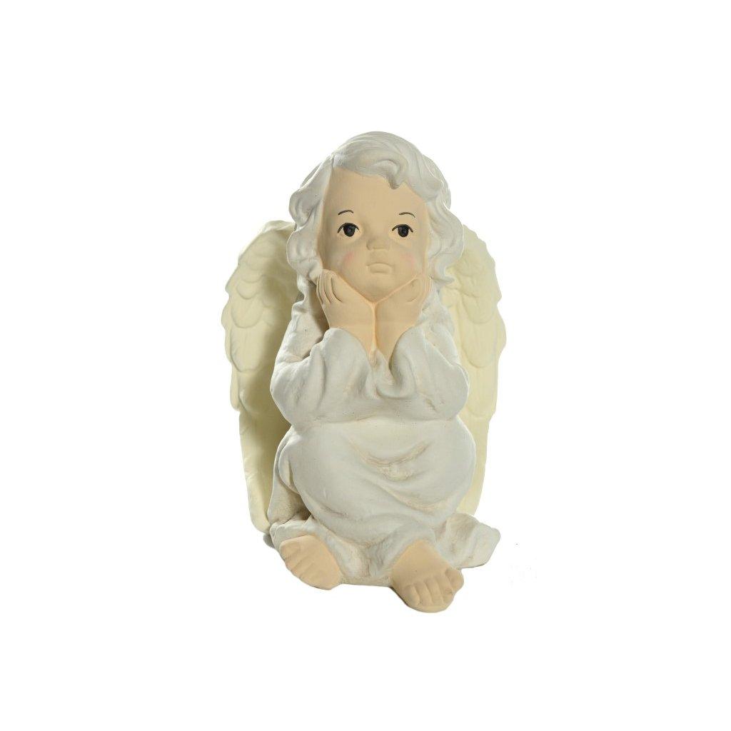 Anjel Mizantrop 24cm (Farba Biela, Veľkosť Neurčená)