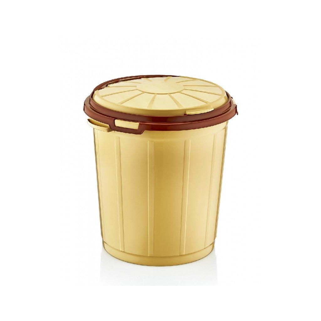 Odpadkový kôš 35 L, Dunya (Farba Svetlohnedá, Veľkosť 35L)