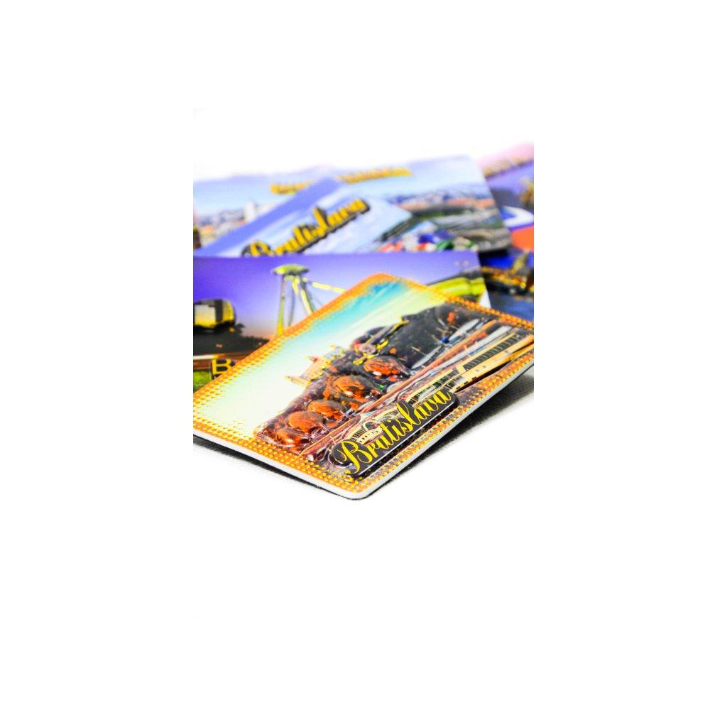 Magnetka 3D Bratislava hrad+loď (Farba Multifarebné, Veľkosť Neurčená)