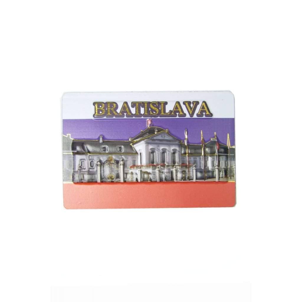 3D magnetka Bratislavy - Prezidentský palác (Farba Multifarebné, Veľkosť Neurčená)