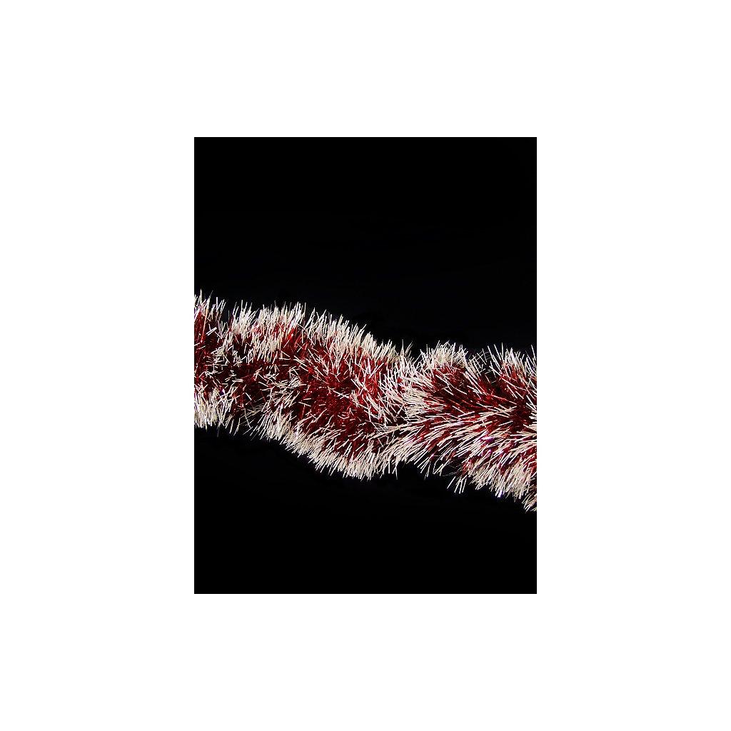 Lameta - červeno-biela 3m. (Farba Červená, Veľkosť 150cm)