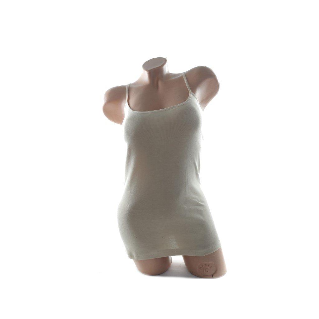 Dámske tielko na tenké ramienka (Farba Biela, Veľkosť XL)
