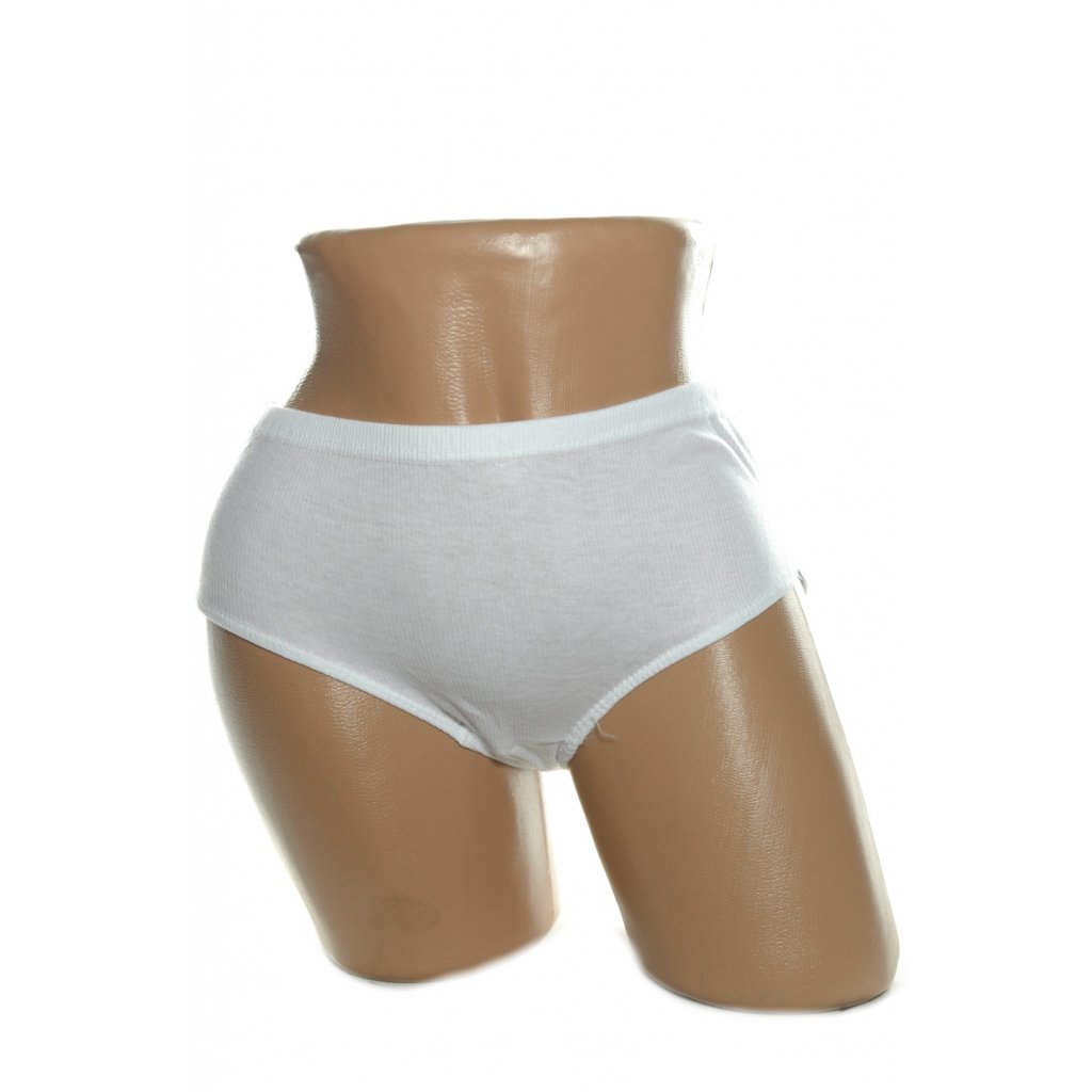 Dámske nohavičky - biele, 10 kusov v balení (Farba Biela, Veľkosť L)