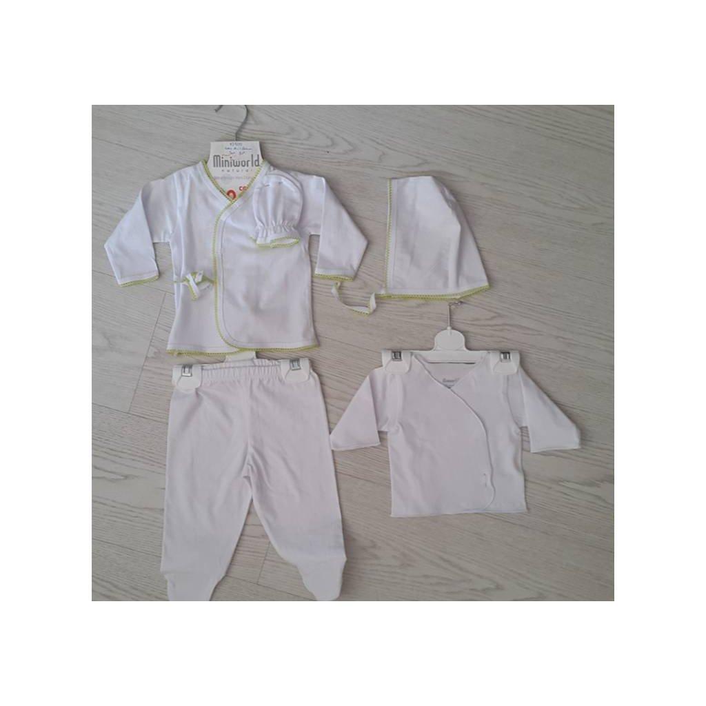 Detský kojenecký komplet - 5ks (Farba Ružová, Veľkosť 0-3m)