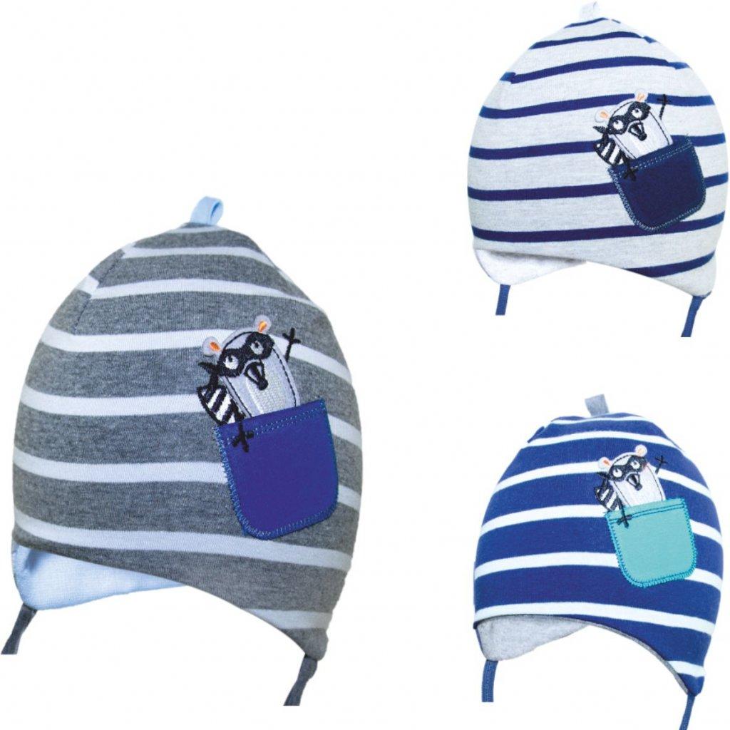 Detská čiapka - pásikavá (Farba Multifarebné, Veľkosť 40-42)