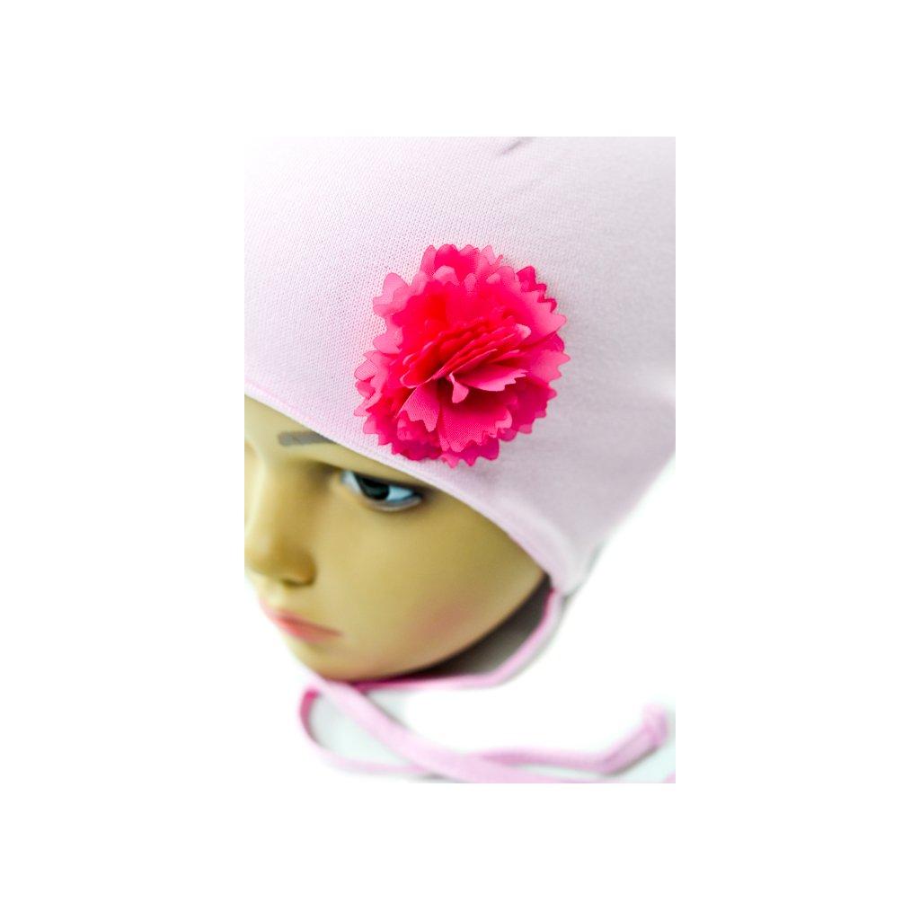Detská čiapka - ruža (Farba Ružová, Veľkosť Neurčená)