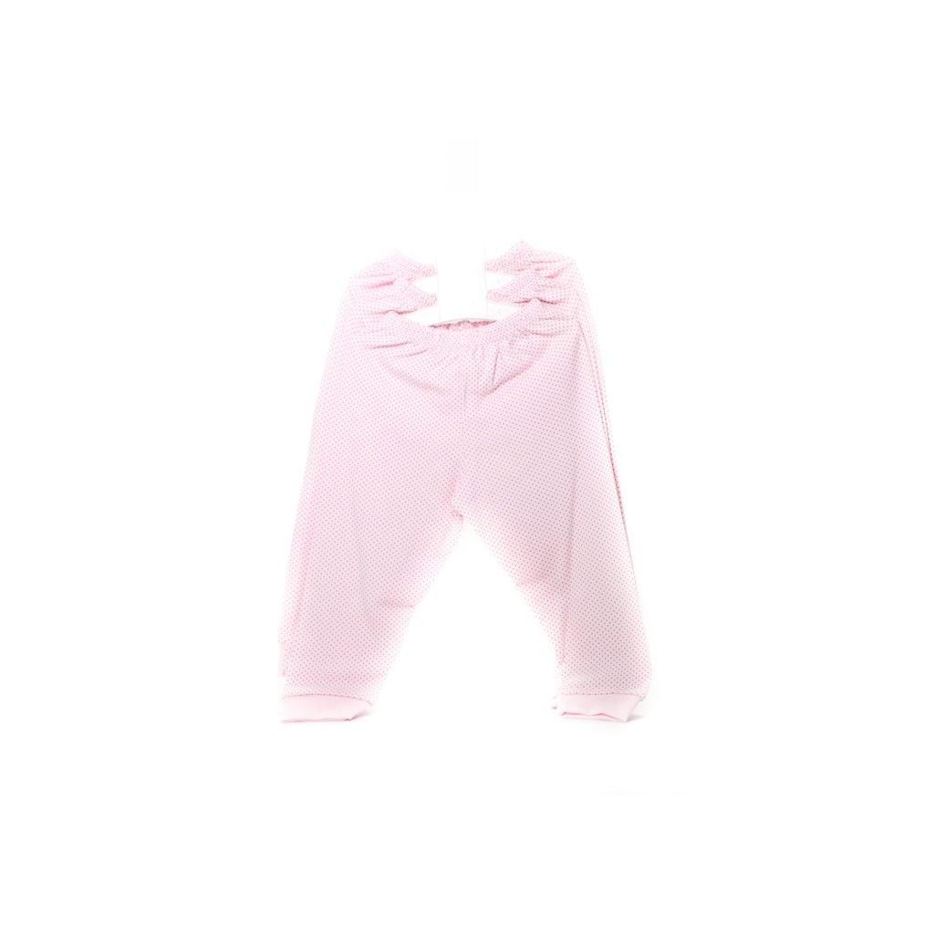 Detské kojenecké tepláky - bodky (Farba Biela, Veľkosť 3m)