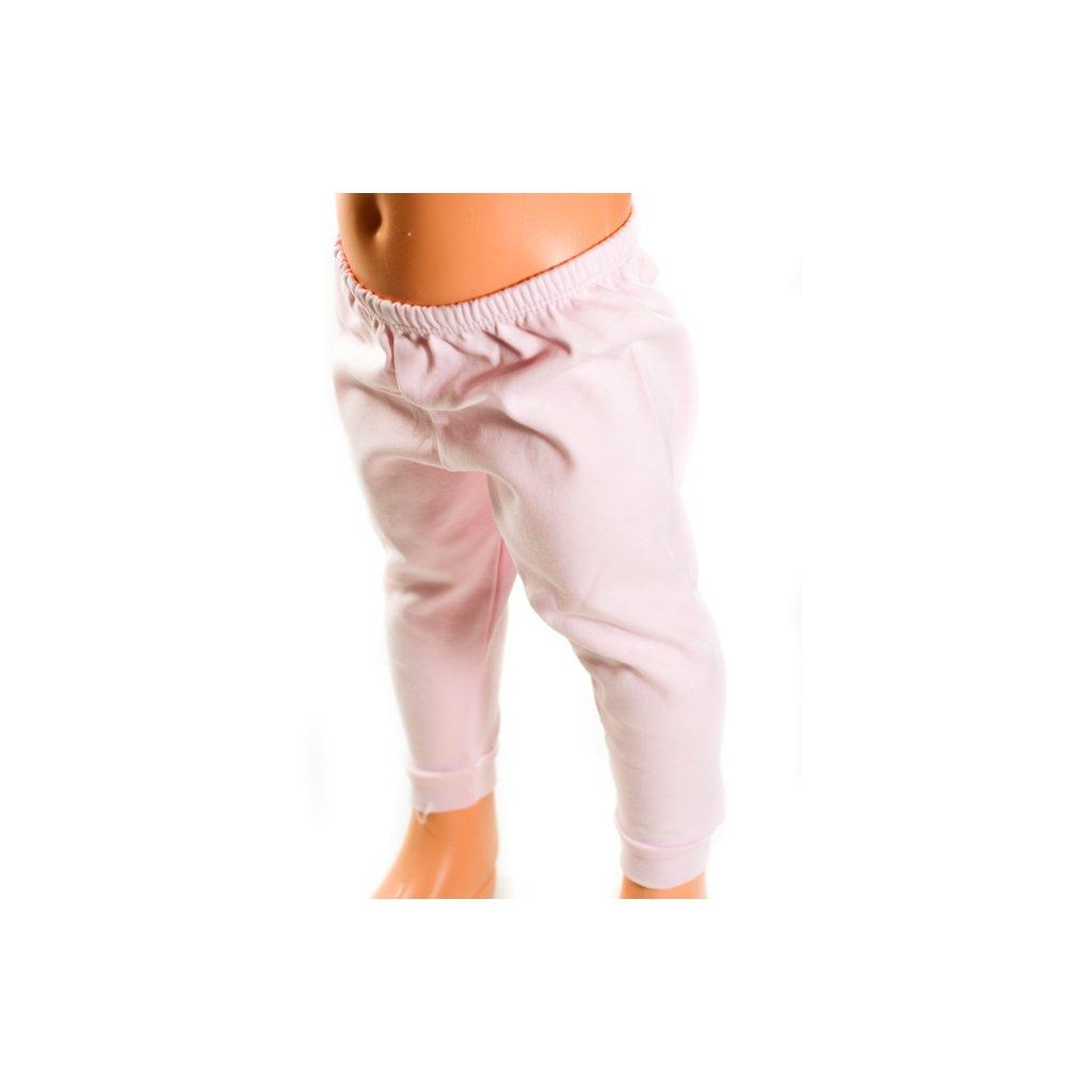 Detské kojenecké nohavice - jednofarebné, väčšie (Farba Biela, Veľkosť 12m)