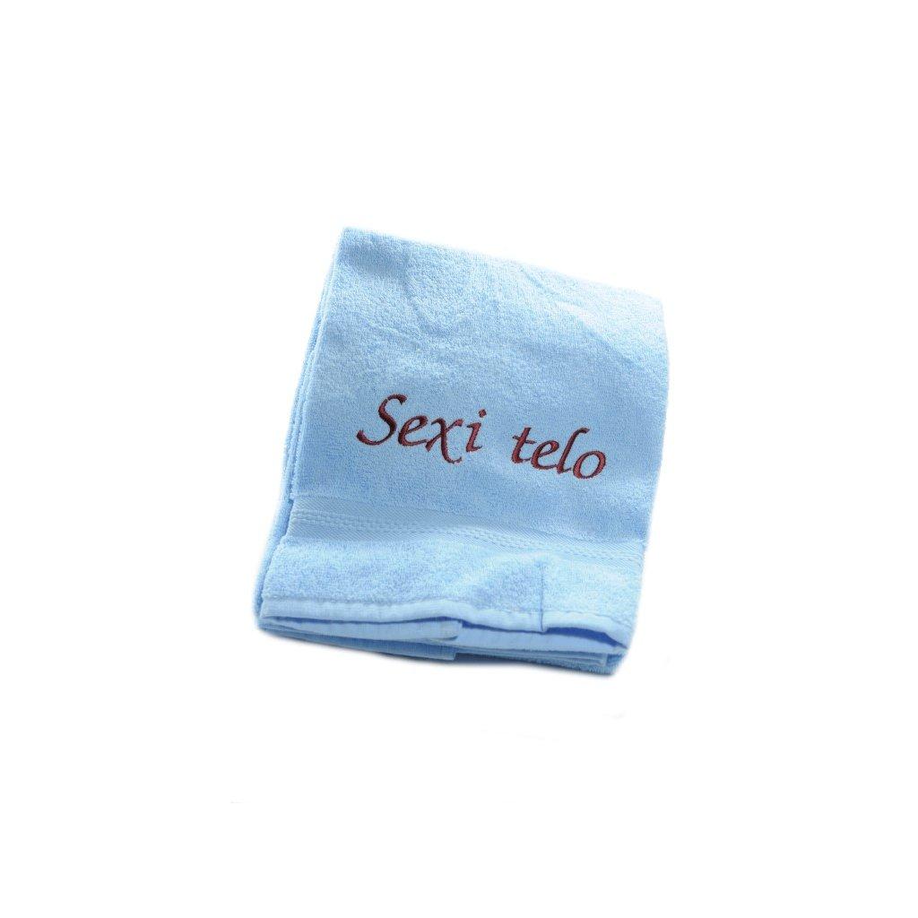 Uterák sexi telo - modrý 87*49cm, PoloTrade (Farba Modrá, Veľkosť 100x50cm)