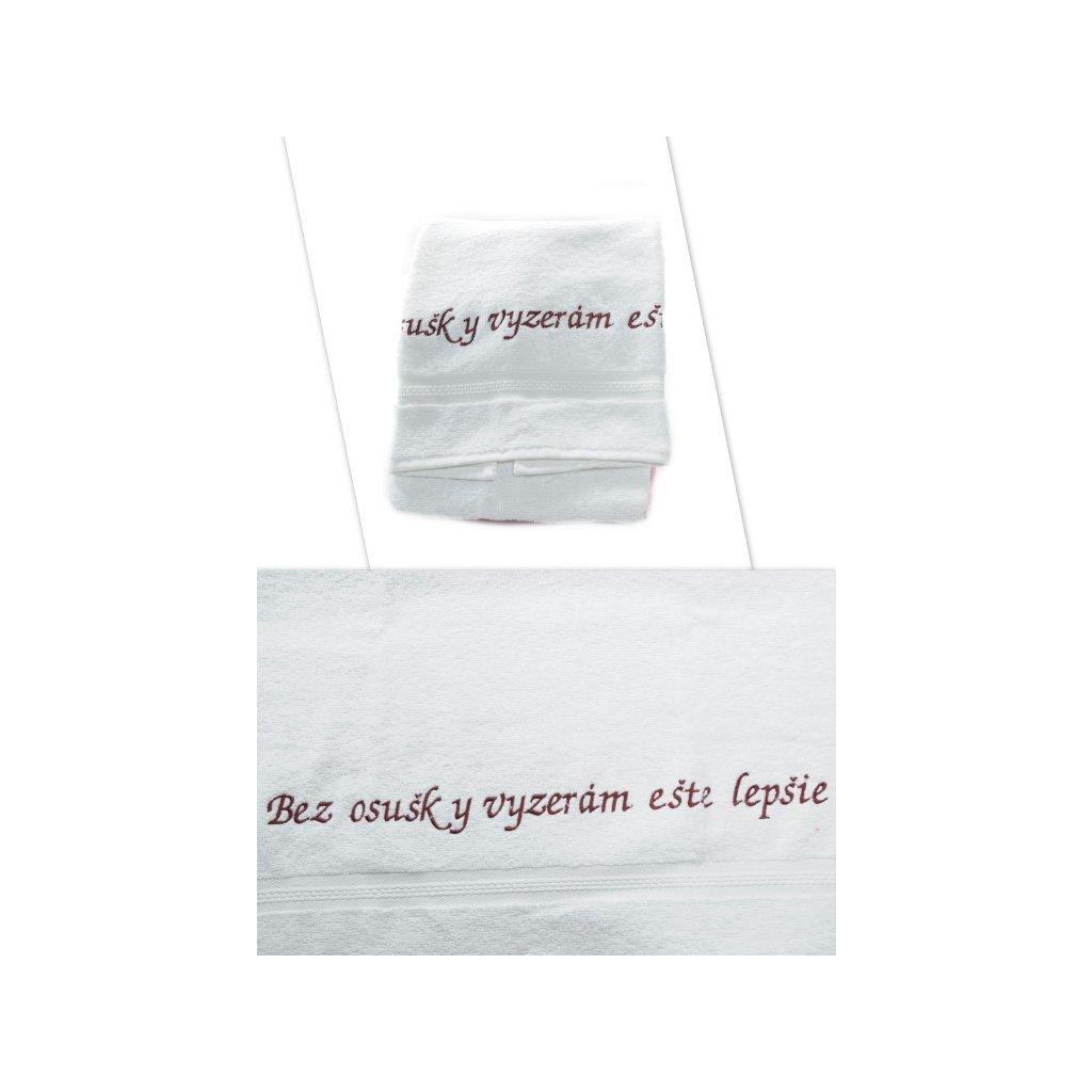 Osuška - Bez osušky vyzerám ešte lepšie - biela, 70x140cm, PoloTrade (Farba Biela, Veľkosť 70x140cm)