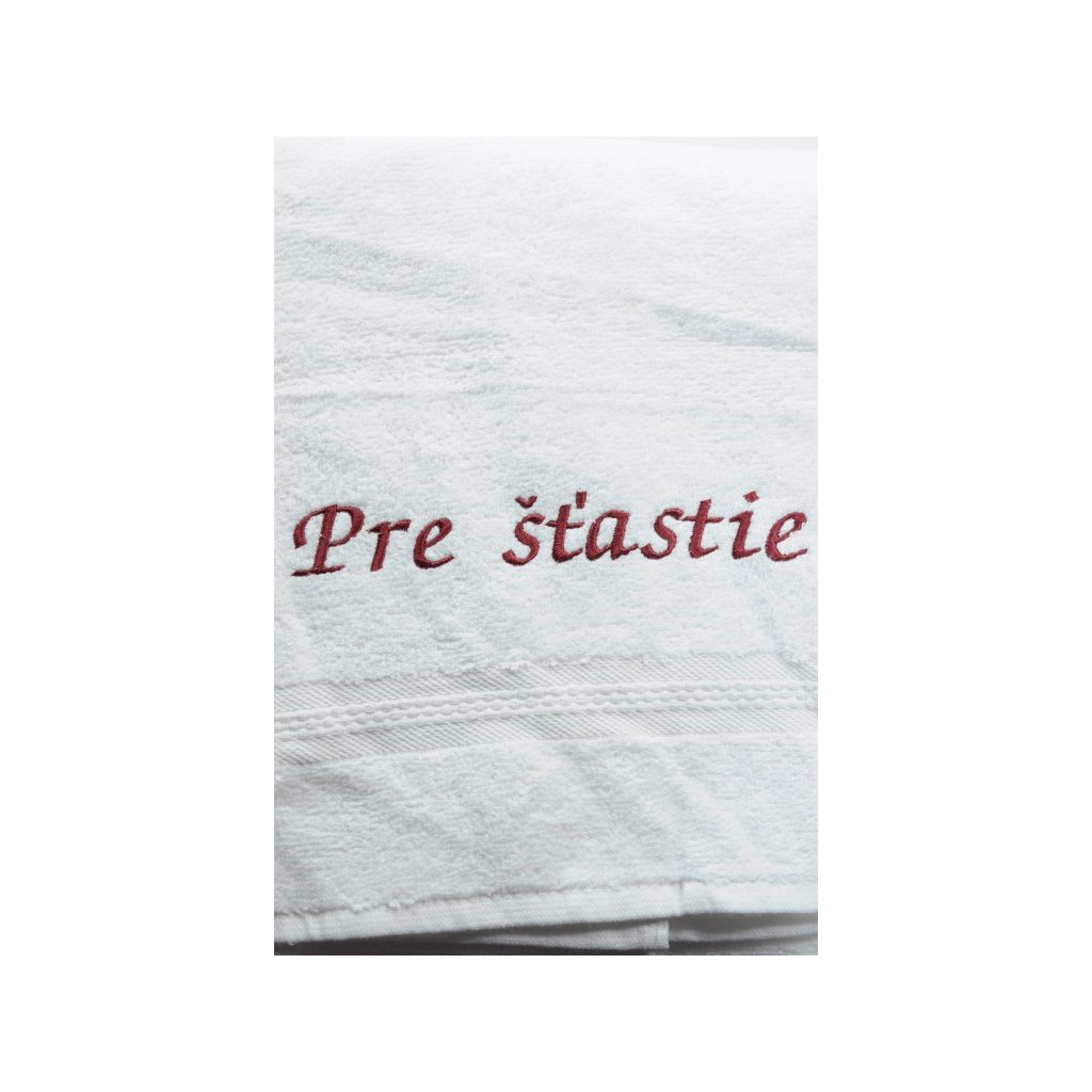 Osuška Pre šťastie - biela 70x140cm, PoloTrade (Farba Biela, Veľkosť 70x140cm)