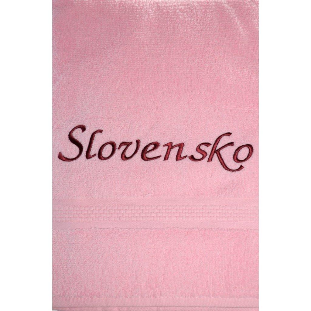 Uterák Slovensko - ružový svk slovakia 87*49cm, PoloTrade (Farba Ružová, Veľkosť 100x50cm)