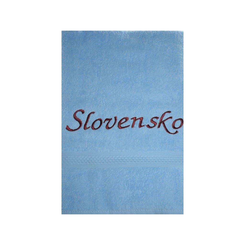 Osuška Slovensko - modrá, 70x140cm, PoloTrade (Farba Modrá, Veľkosť 70x140cm)