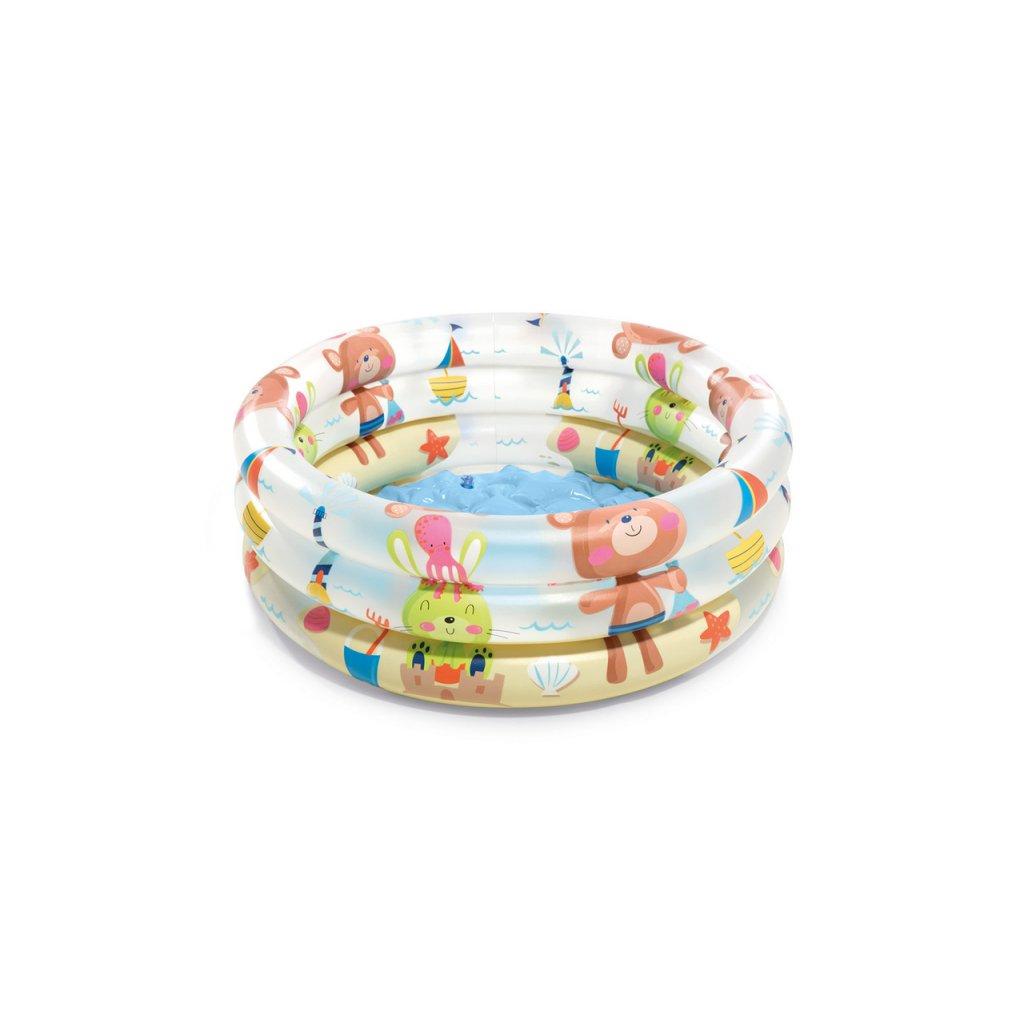 Intex Bazén zvieratká 3-RING BABY 61cm (Farba Multifarebné, Veľkosť 61x22cm)