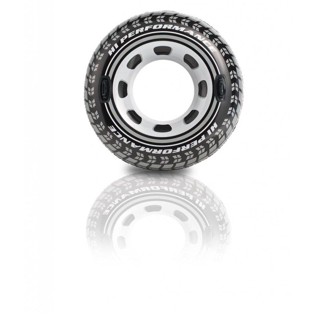 Intex Plávacie koleso Intex pneumatika s držiakmi 114cm (Farba Čierna, Veľkosť 114)