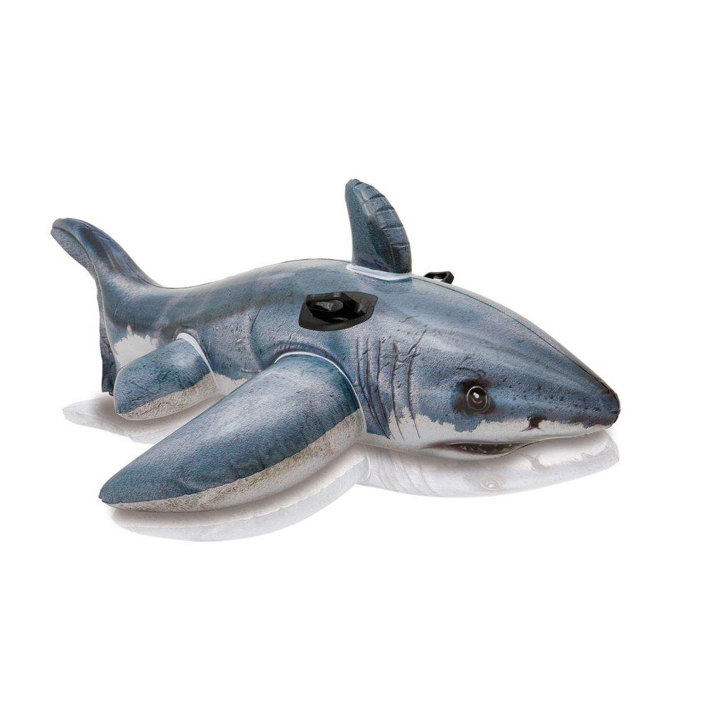 Nafukovačka žralok 173*107cm (Farba Tmavomodrá, Veľkosť 173x107cm)