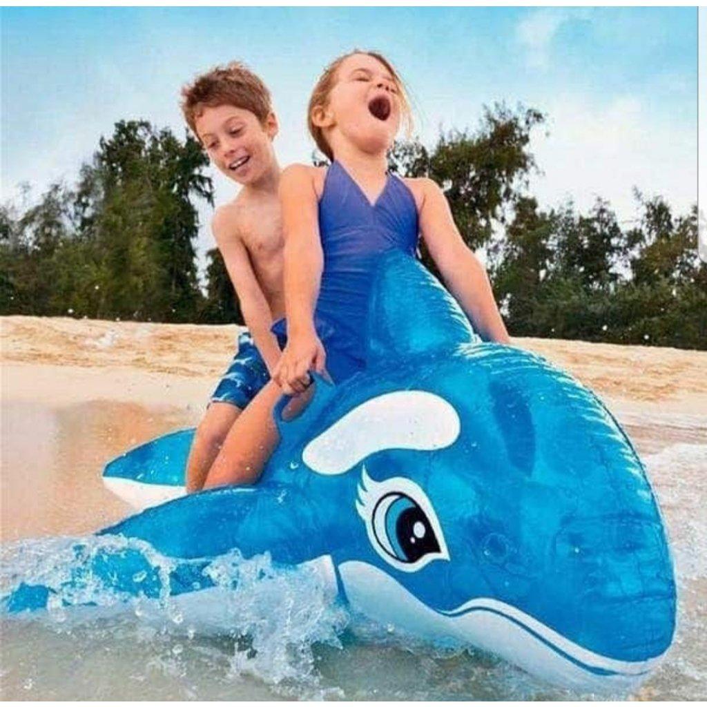 Nafukovačka veľryba152*114cm (Farba Modrá, Veľkosť 152x114cm)