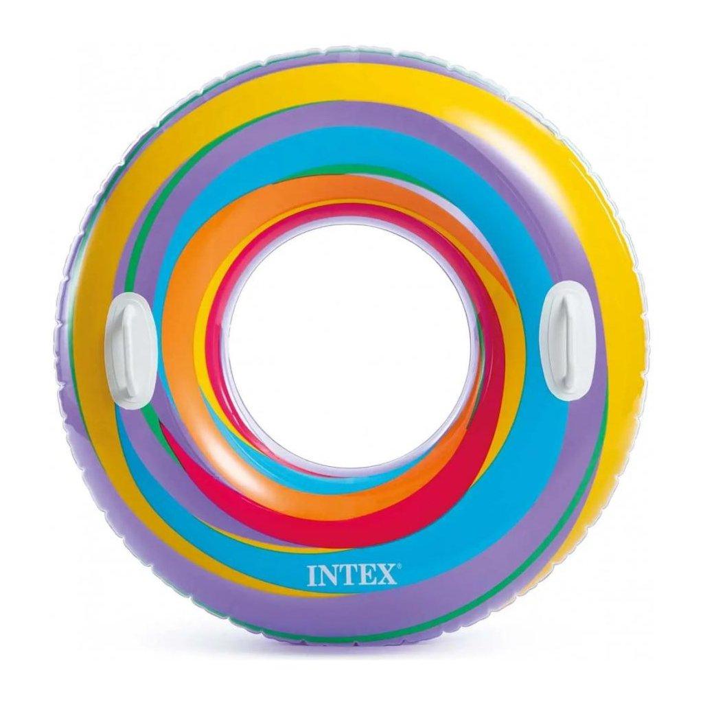 Intex Plávacie koleso s madlami Intex, vzor hviezdy 91cm (Farba Fialová, Veľkosť 91)