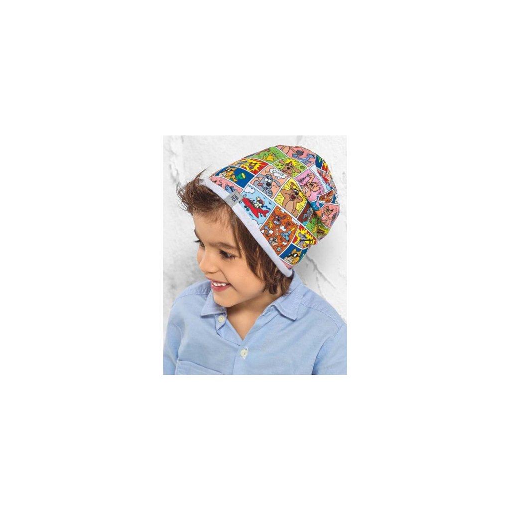 Detská čiapka Stworek - 18/062 (Farba Multifarebné, Veľkosť 46-48)