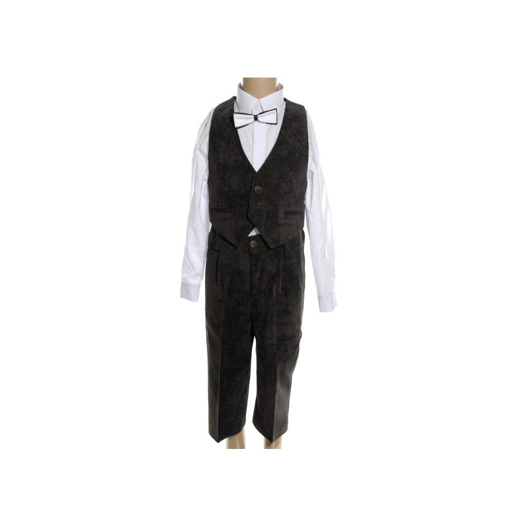 Detský oblek - menčestrový (Farba Hnedá, Veľkosť 92)
