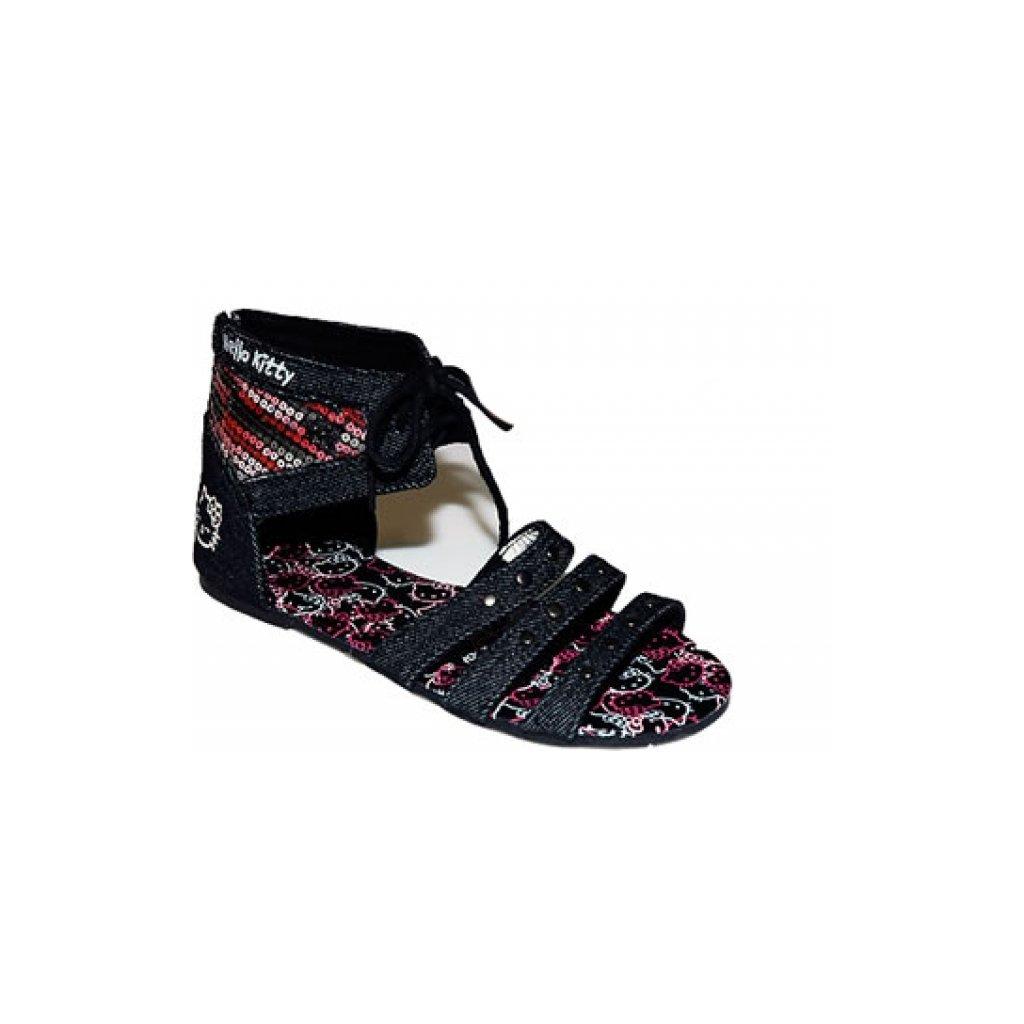 Riflové sandále Hello Kitty (Farba Čierna, Veľkosť 28)