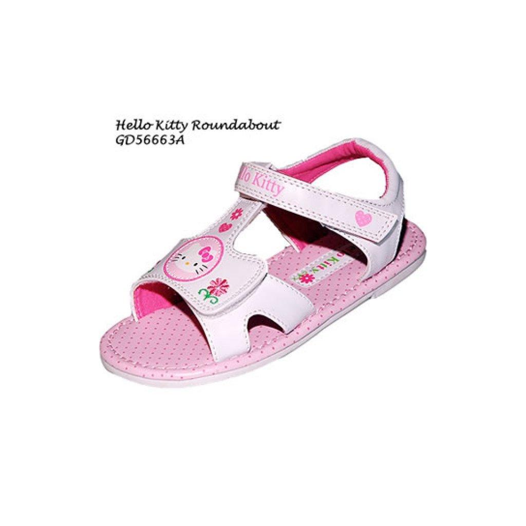 Dievčenské sandálky Hello Kitty (Farba Biela, Veľkosť 23)