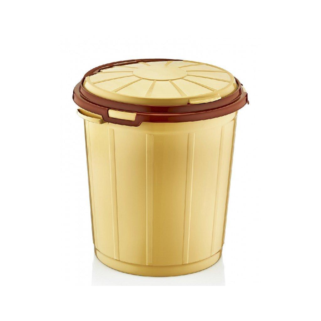 Okrúhly smetiak bez dekla 50L, PoloTrade (Farba Svetlohnedá, Veľkosť 50L)