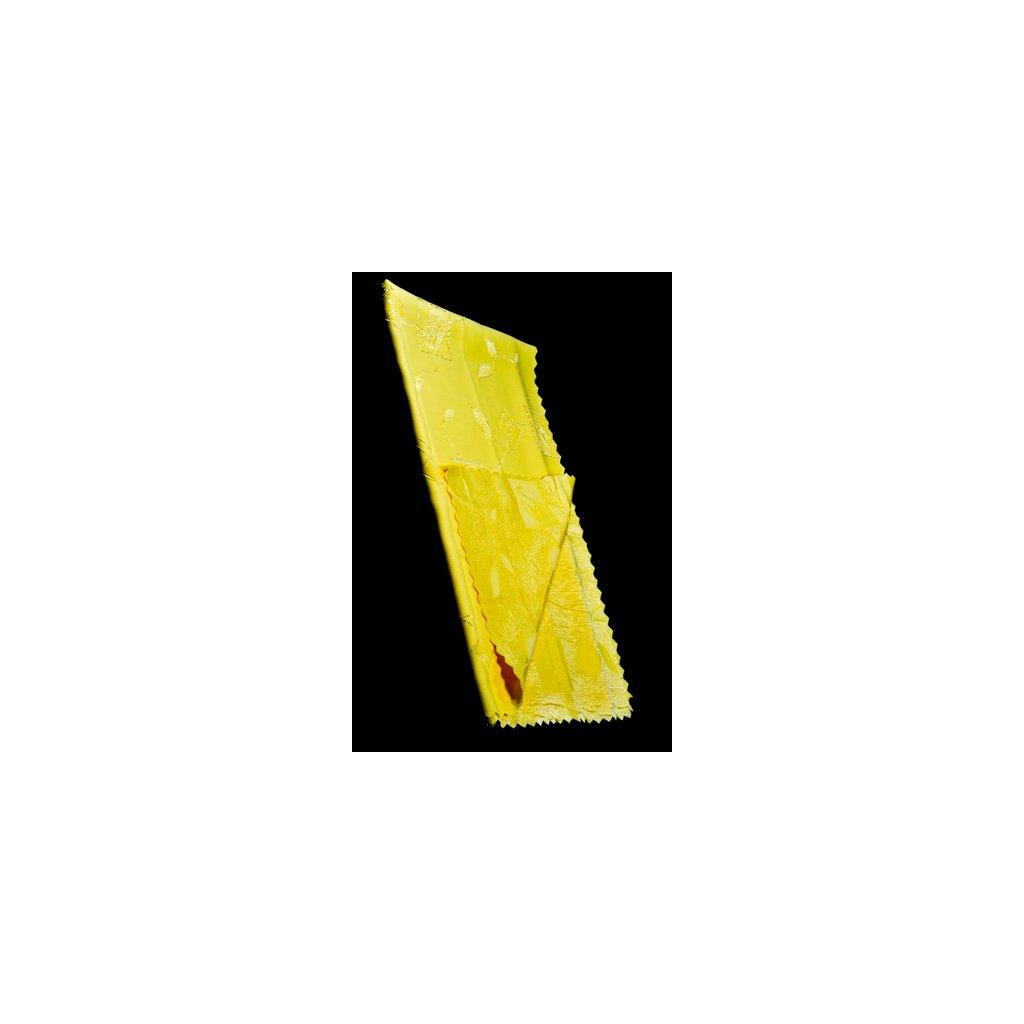 Teflónový obrus vzor ruže 120x140cm, jednofarebný, zúbkovaný okraj, PoloTrade (Farba Žltá, Veľkosť 120x140cm)