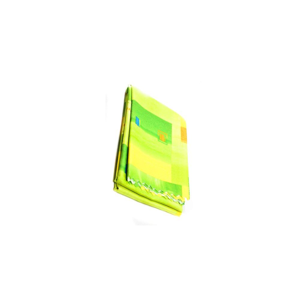 Teflónový obrus vzorovaný 160x220cm, žlto-zelená farba, zúbkovaný okraj, hran. 15 (Farba Svetlozelená, Veľkosť 160x220cm)