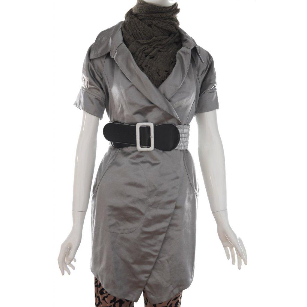 Dámsky metalický kabátik (Farba Čierna, Veľkosť M)