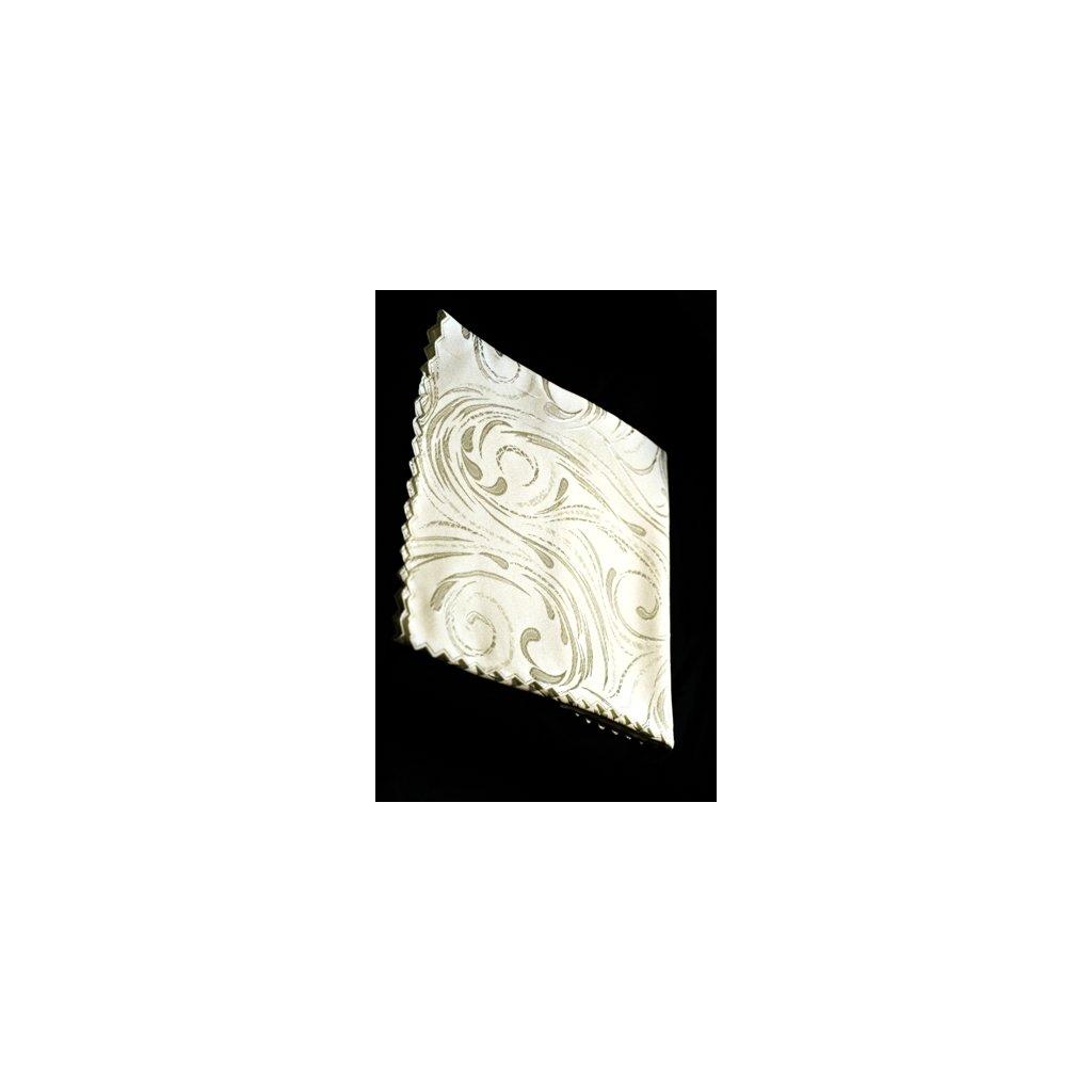 Teflónový obrus 40x80cm, jednofarebný s ornamentami (Farba Tmavozelená, Veľkosť 40x80cm)
