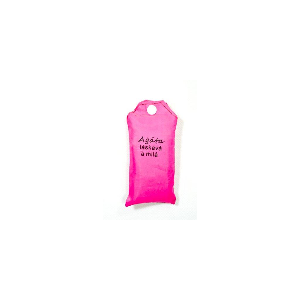 Nákupná taška s menom Agáta - láskavá a milá 15ltr (Farba Červená, Veľkosť 15L)