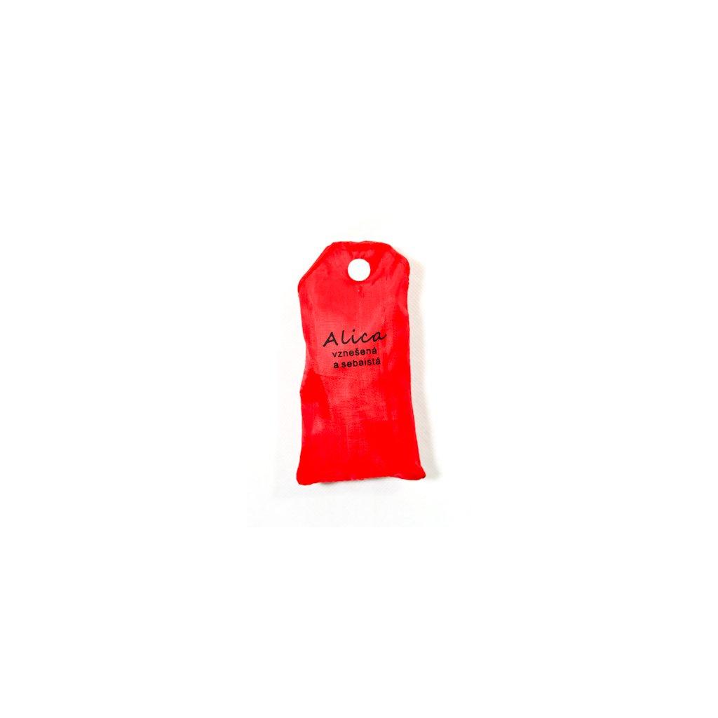 Nákupná taška s menom ALICA - vznešená a sebaistá, C-24-7704 (Farba Červená, Veľkosť 15L)