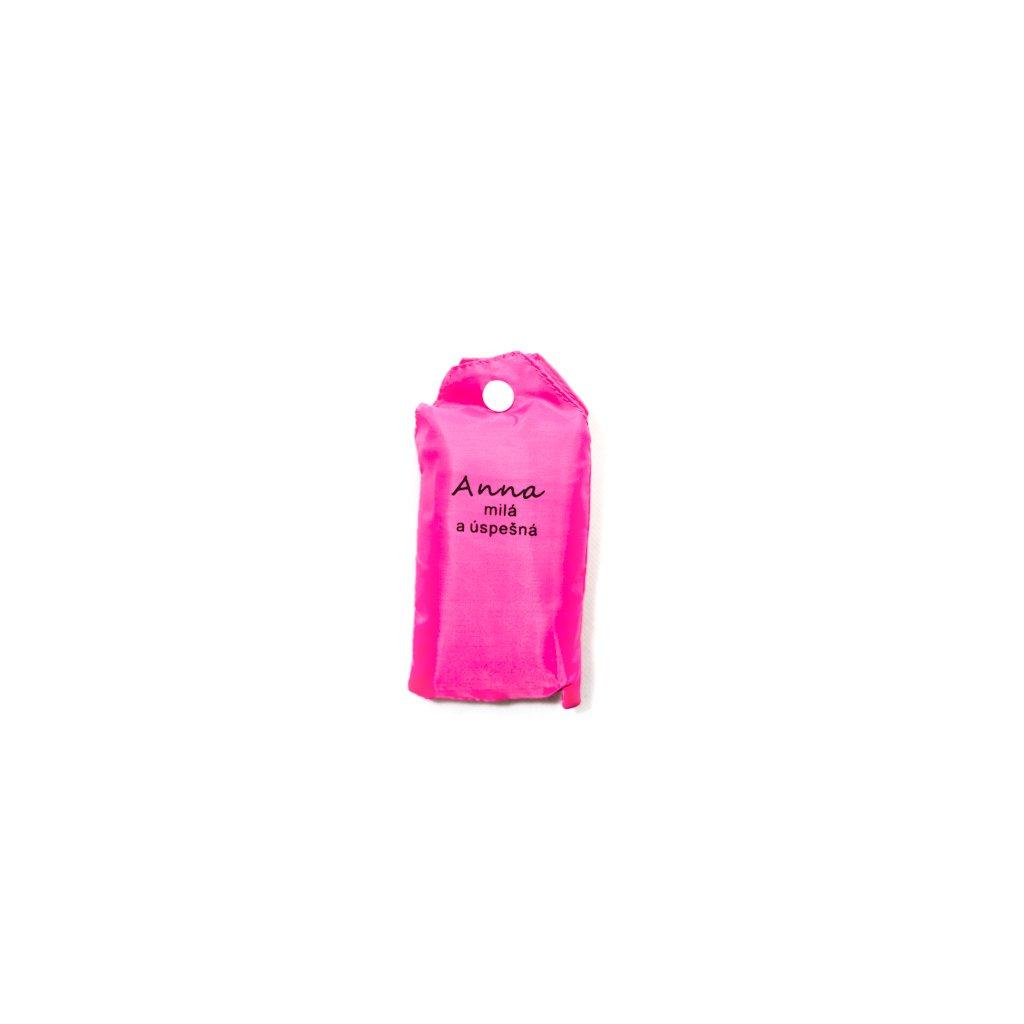 Nákupná taška s menom ANNA - milá a úspešná (Farba Červená, Veľkosť 15L)