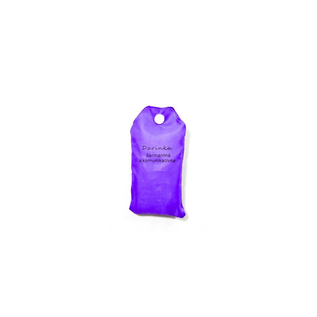 Nákupná taška s menom DARINKA - šarmantná a komunikatívna (Farba Červená, Veľkosť 15L)