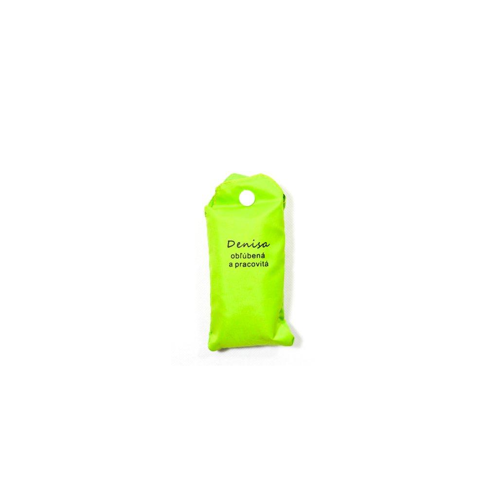 Nákupná taška s menom DENISA - obľúbená a pracovitá (Farba Červená, Veľkosť 15L)